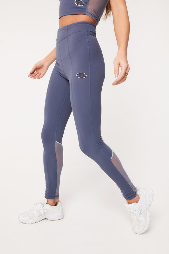 OVERLOCK MESH PANELLED LEGGINGS