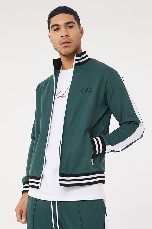 FOREST GREEN TRACK TOP