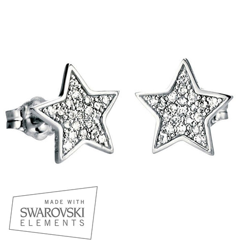 Pavé Star Stud Earrings