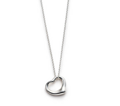 """Tiffany Inspired"" 925 Sterling Silver Open Heart Necklace"