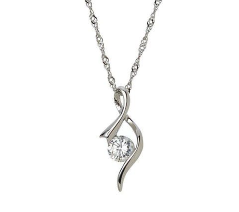 925 Sterling Silver Contemporary Twist Necklace