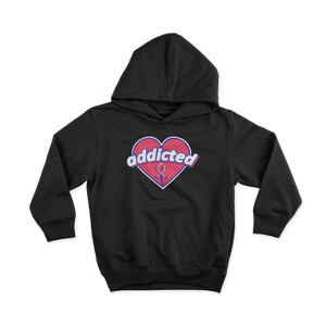ADDICTED SWEETHEART HOODIE - BLACK