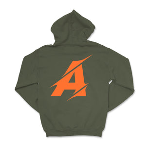 SIGNATURE A HOODIE - ARMY GREEN