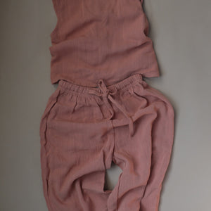 Relaxed Linen Set / Coral