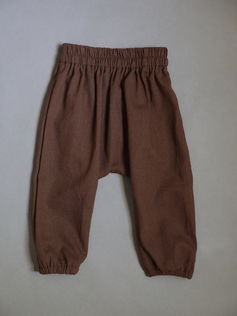 Linen Harem Pants / Walnut