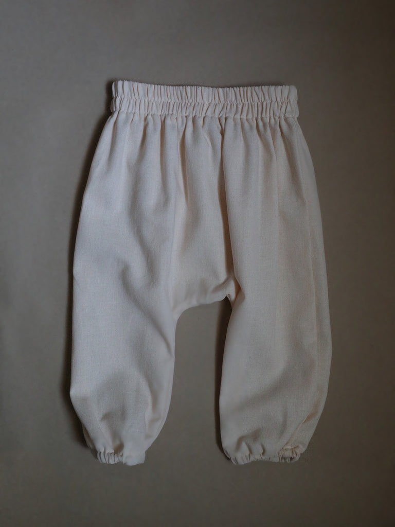 Linen Harem Pants / Powder