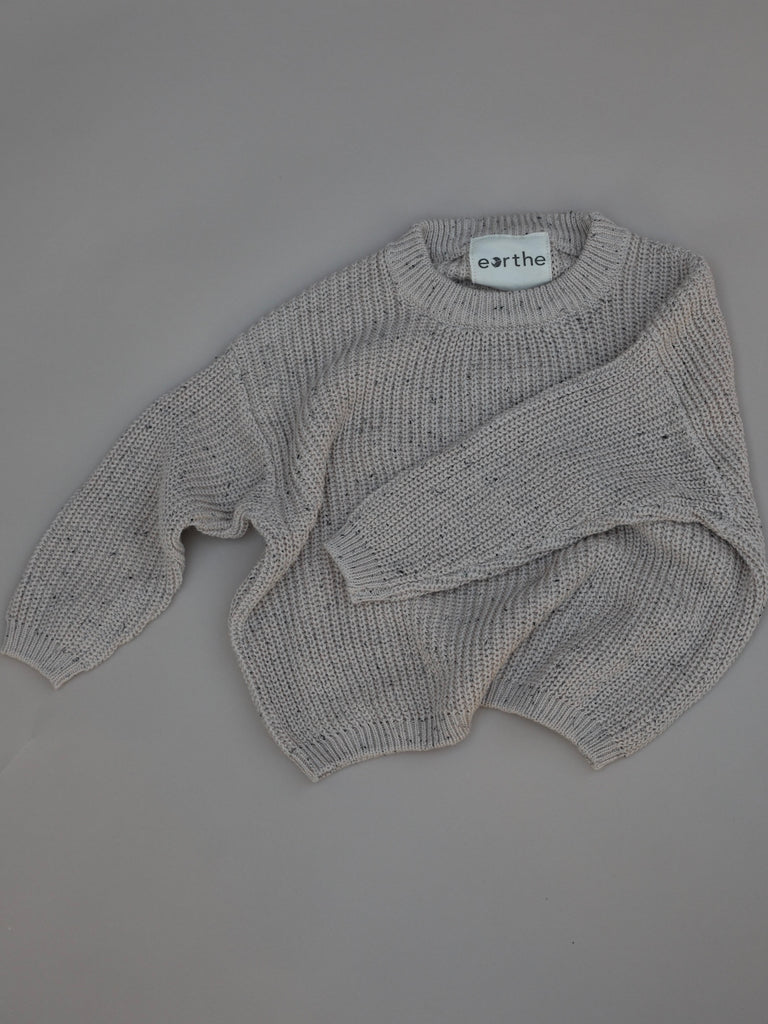 Knit Sweater / Tan Sprinkle