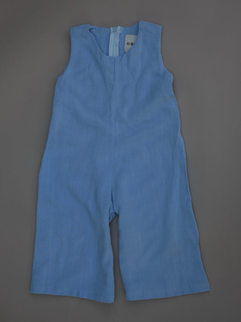 Blended Linen Jumpsuit / Cornflower