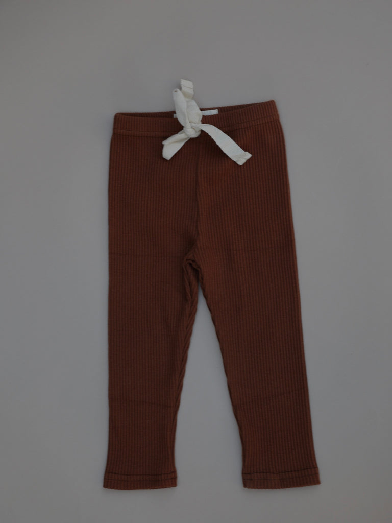 Ribbed Pants / Rust