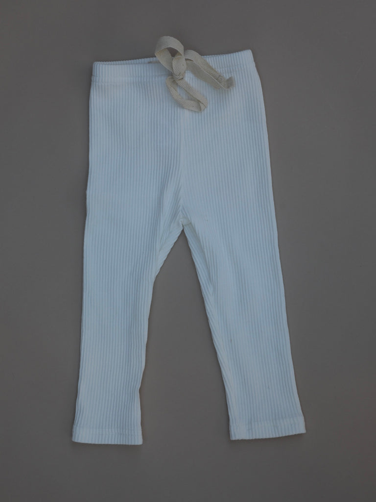 Ribbed Pants / White