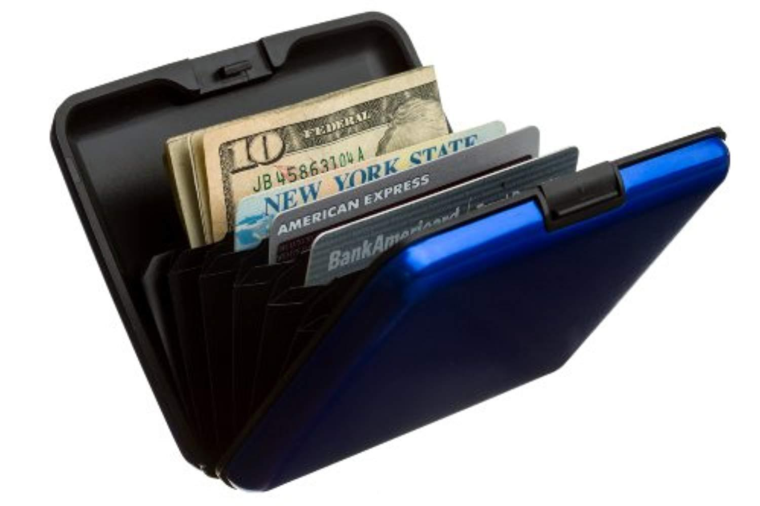 Black SHARKK LARGE Aluminum Wallet Credit Card Holder With RFID Protection