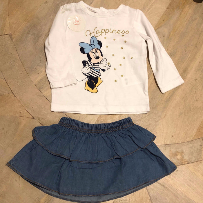 Disney mini Skirt and Matching Top 6 months