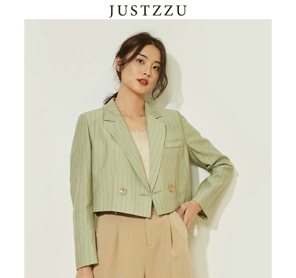 JUSTZZU Women Formal Blazers