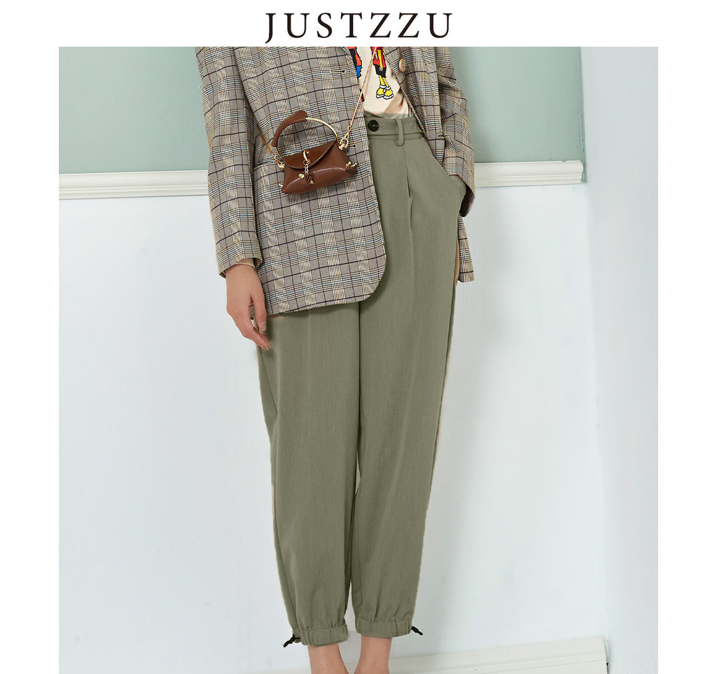JUSTZZU Streetwear Ribbon Trousers