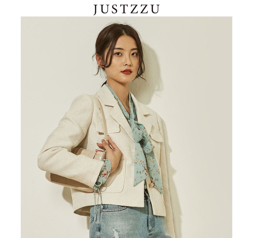JUSTZZU Formal Blazers Office Work Suit
