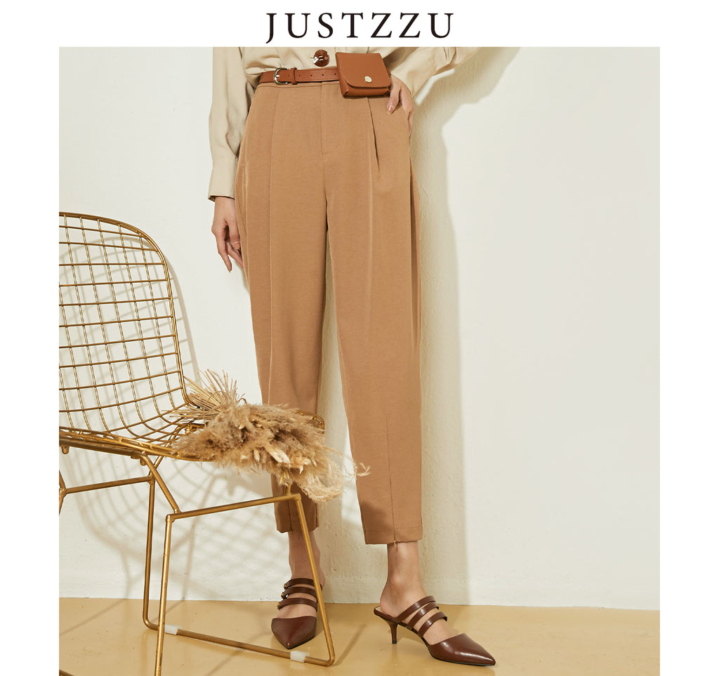 JUSTZZU  Pants Pockets Ribbon Trousers