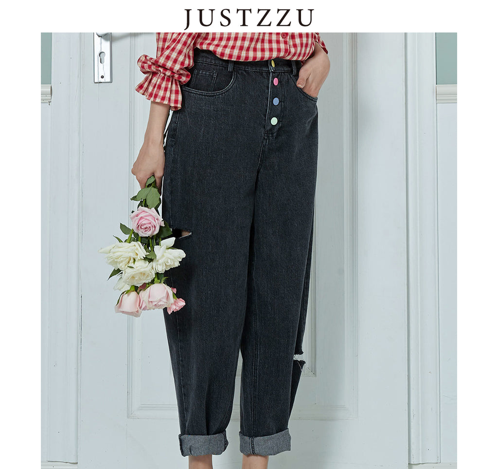 JUSTZZU  Jeans  Straight Pants