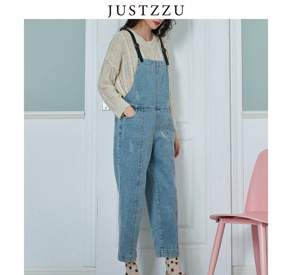 JUSTZZU Slim Jumpsuit  Loose Slim Rompers