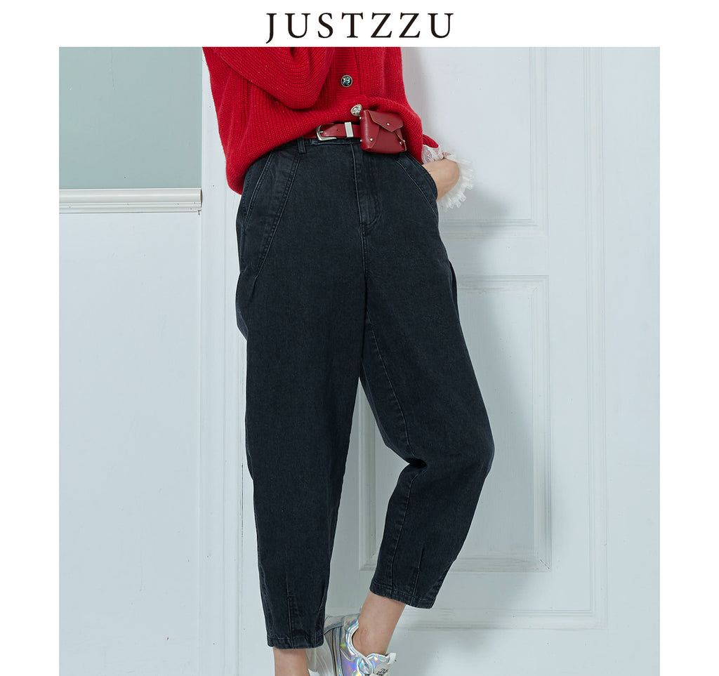 JUSTZZU  Women Straight Jeans