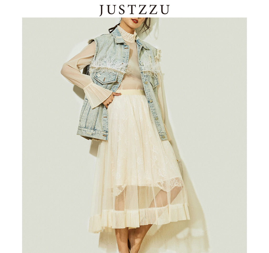 JUSTZZU Women Party Skirt