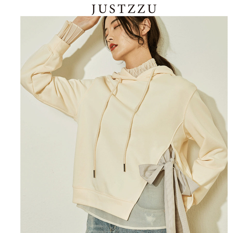 JUSTZZU  Women Hoodies Sweater
