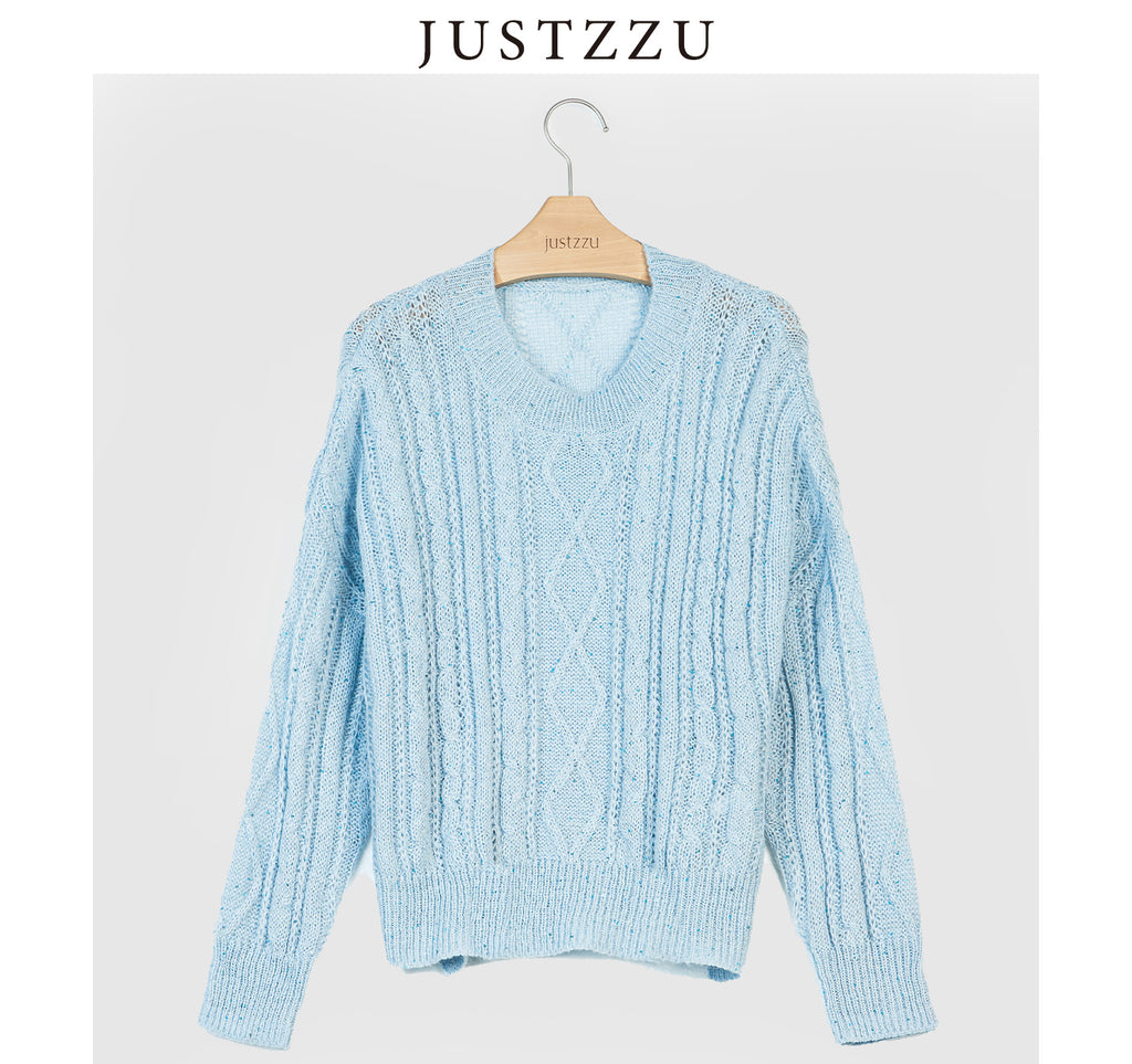 JUSTZZU  Knitted Sweater Jumper