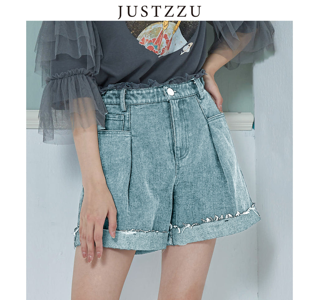 JUSTZZU  Denim Jean Shorts