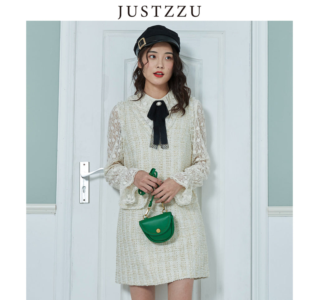 JUSTZZU  Shirts Female Korean Style Blouse