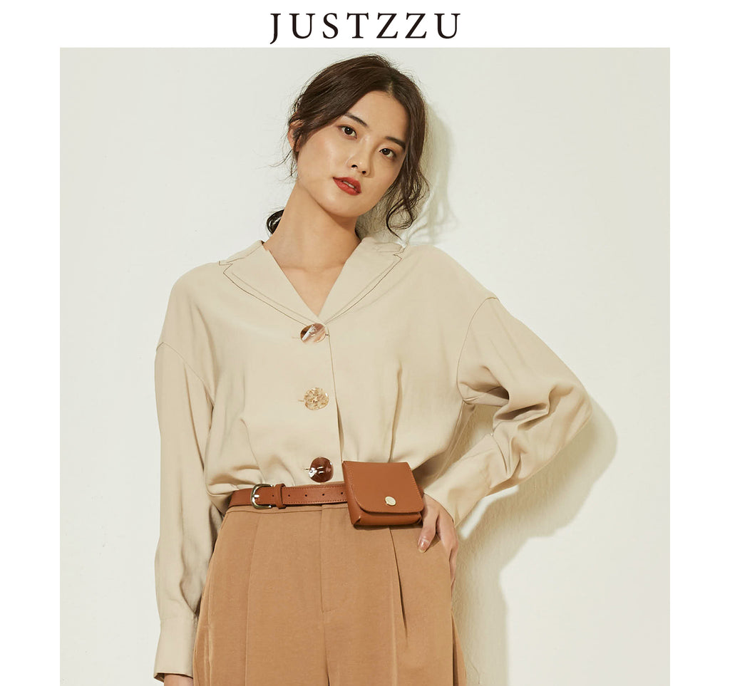 JUSTZZU  Retro Blouse Shirts