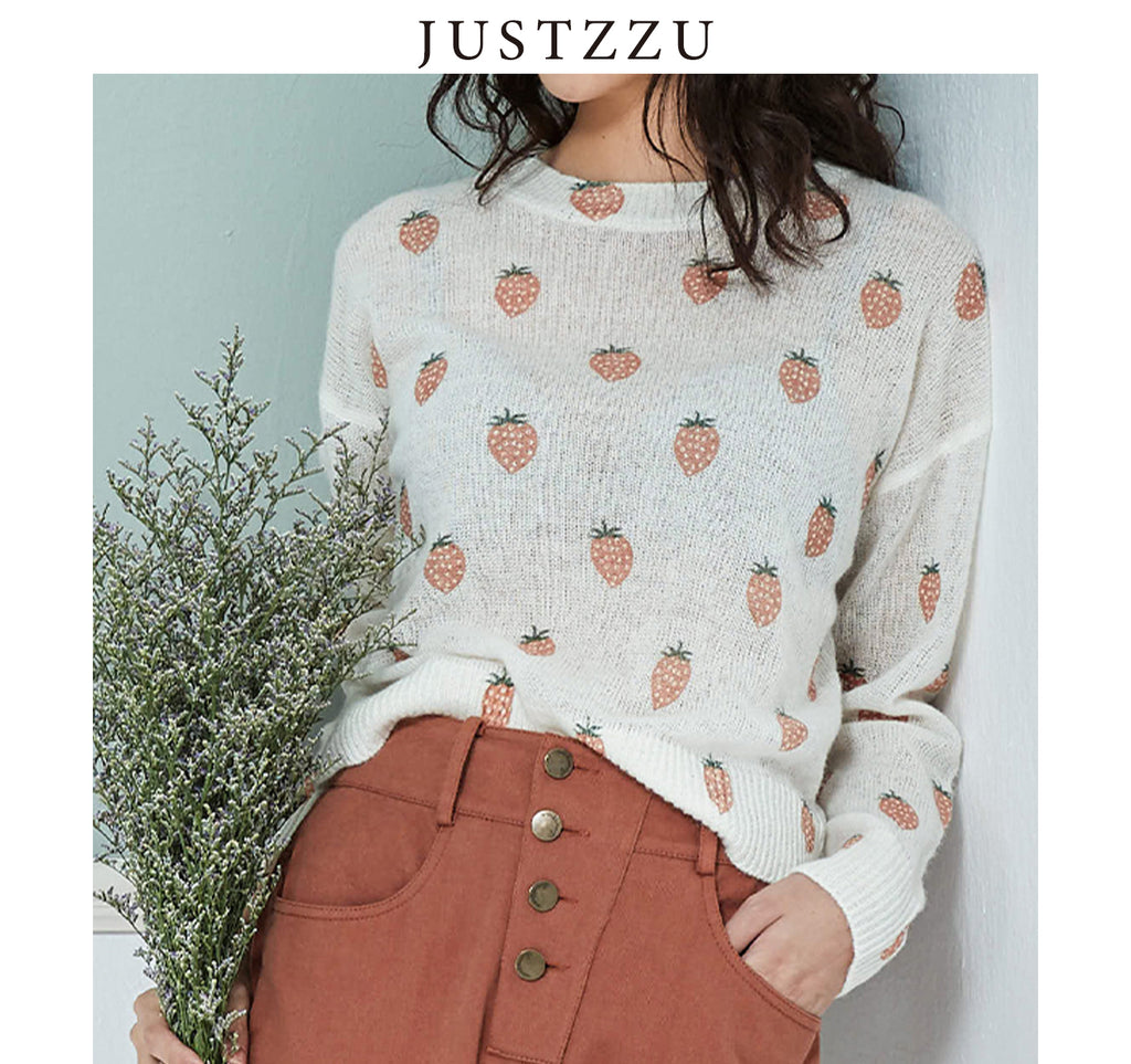 JUSTZZU Women Knitted Sweater