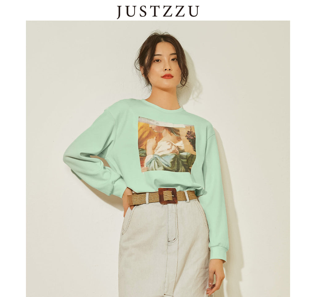JUSTZZU Long-sleeved Sweater