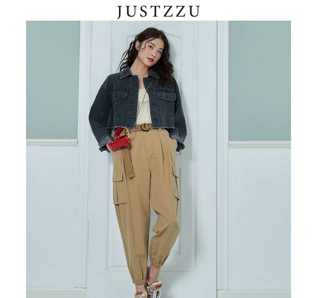 JUSTZZU Women Pants  Lady Trousers