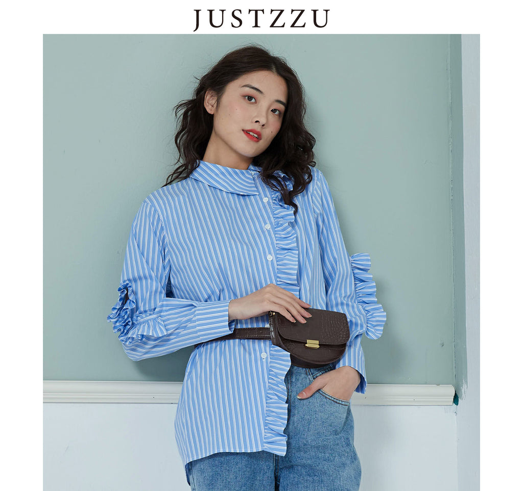 JUSTZZU Women Shirt Casual