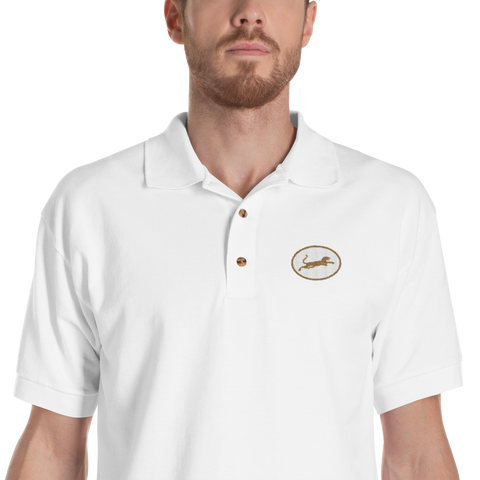 Panther67 Brown Embroidered polo