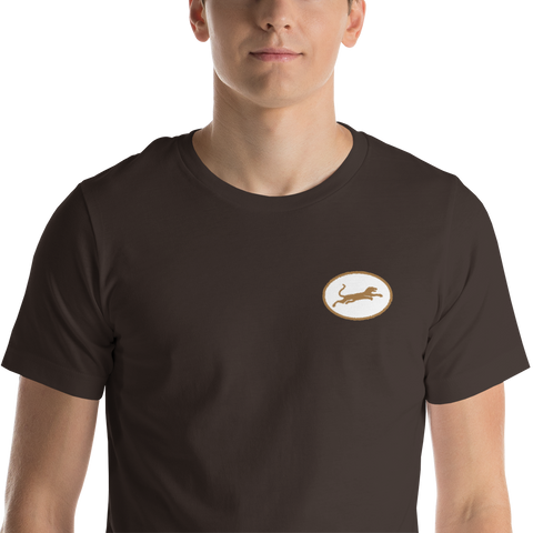 Panther67 Brown Embroidered tee