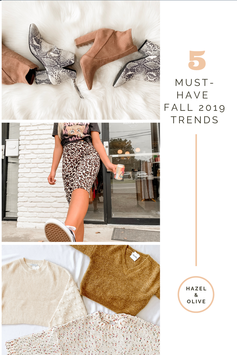 5 Must-Have Fall 2019 Trends
