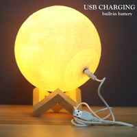 Magic Moon Lamp - 3D Printed Dimmable Rechargeable LED Lamp -Decor- Latest Aesthetics - [collection_title]
