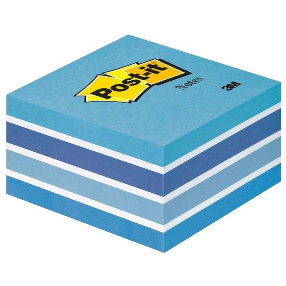 NOTAS ADHESIVAS POST-IT CUBO 76 X 76  MM. COLOR AZUL PASTEL,  450 HOJAS - JSVnet