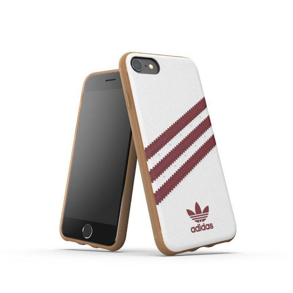 CARCASA ADIDAS ORIGINAL  STRIPES SAMBA SS19 BLANCO / BORDEAUX / BEIGE COMPATIBLE CON IPHONE 6 / 6S / 7/ 8 - JSVnet