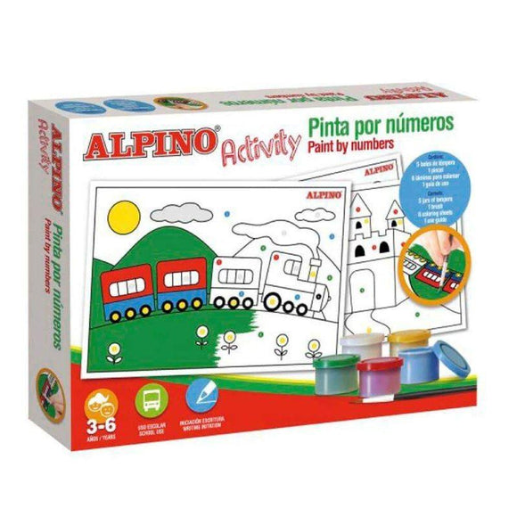 ESTUCHE DE 5 TÉMPERAS ALPINO ACTIVITY + 6 LÁMINAS PARA COLOREAR - JSVnet