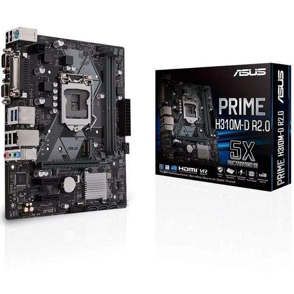 PLACA BASE ASUS PRIME H310M-D R2.0 - PARA INTEL CORE 9TH/8TH GEN - SOCKET LGA 1151 - CHIPSET H310 - 2*DIMM DDR4 - HDMI/VGA - MATX - JSVnet