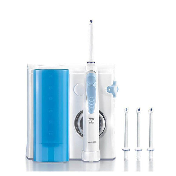IRRIGADOR DENTAL BRAUN ORAL-B WATERJET MD16 - 2 MODOS DE OPERACIÓN - 4 BOQUILLAS INTERCAMBIABLES - DEPOSITO 600ML - JSVnet