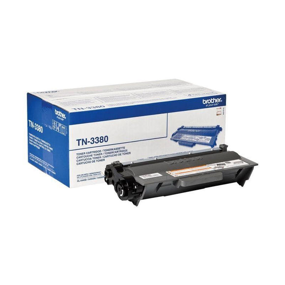 TONER NEGRO BROTHER TN-3380 - 8000 PAGINAS APROX - COMPATIBLE SEGUN ESPECIFICACIONES - JSVnet