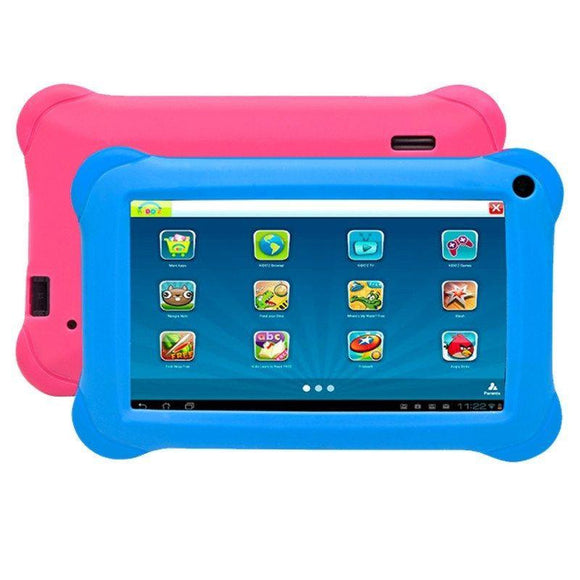 TABLET INFANTIL DENVER TAQ-70353BLUEPINK - QC 1.2GHZ - 1GB DDR3 - 16GB - 7'/17CM 1024X600 - ANDROID 8.1+KIDOZ - FUNDAS ROSA+AZUL - JSVnet