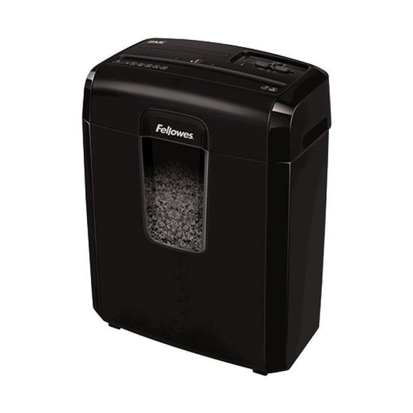 DESTRUCTORA FELLOWES 8MC - MICROCORTE 3*10MM - PAPELERA 14 LITROS - DESTRUYE  GRAPAS / TARJETAS DE CRÉDITO - JSVnet
