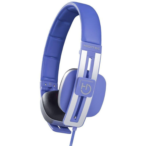 AURICULARES DIADEMA HIDITEC WAVE BLUE - ALTAVOCES 40MM - 103DB - MICROFONO INTEGRADO EN CABLE - CONECTOR 3.5 - JSVnet
