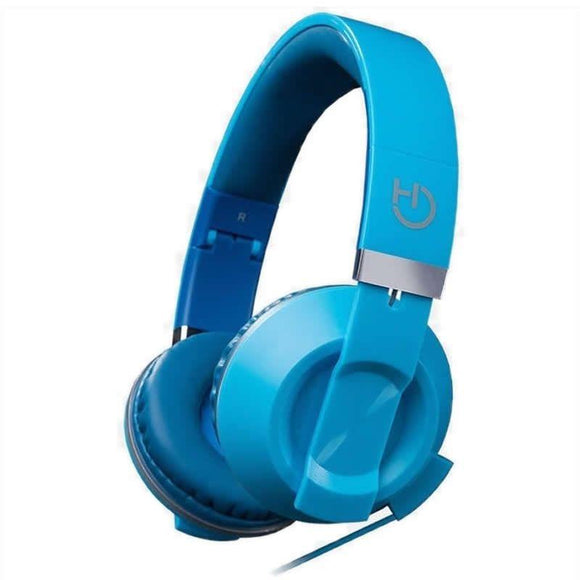 AURICULARES DIADEMA HIDITEC COOL KIDS DEEP BLUE - ALTAVOCES 40MM - 92DB - MICRÓFONO INTEGRADO EN CABLE - CONECTOR 3.5MM - PLEGABLES - JSVnet