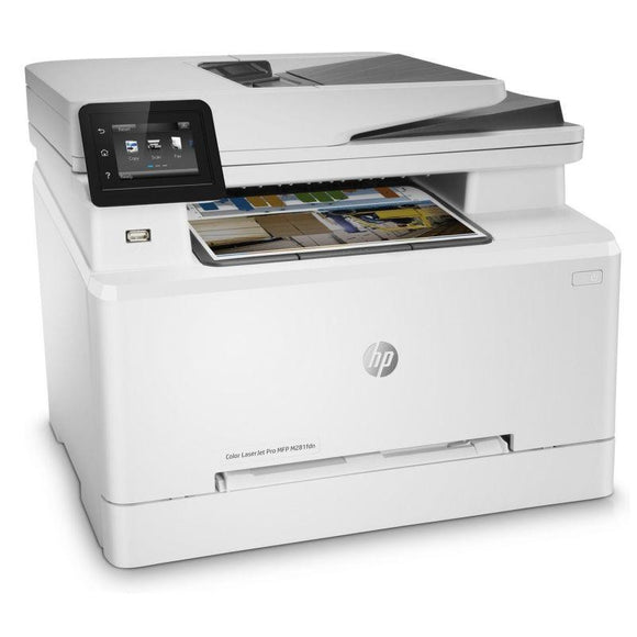 MULTIFUNCIÓN HP CON FAX LASERJET PRO M281FDN - 21/21PPM - 21CPM - SCAN 26PPM - DUPLEX - ADF - USB - RED - EPRINT - HP SMART - TONERS 202/203 - JSVnet
