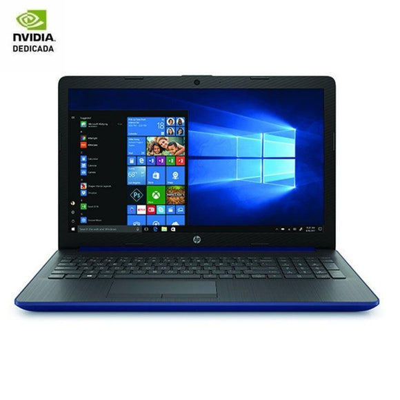 PORTÁTIL HP 15-DA0233NS - I3-7020U 2.3GHZ - 8GB - 256GB SSD - GEFORCE MX110 2GB - 15.6'/39.6CM HD - HDMI - BT - NO ODD - W10 - AZUL LUMIERE - JSVnet