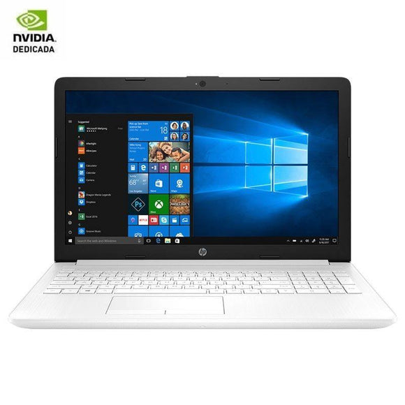 PORTÁTIL HP 15-DA1064NS - I7-8565U 1.8GHZ - 8GB - 256GB SSD - GEFORCE MX130 2GB - 15.6'/39.6CM HD - HDMI - BT - NO ODD - W10 - BLANCO NIEVE - JSVnet